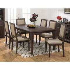 Buy Jofran Geneva Hills 7 Piece 78x42 Rectangular Dining Room Set in Brown on sale online