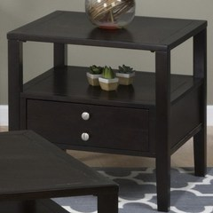 Buy Jofran Hamilton Espresso 24 Inch Square End Table w/ Drawer on sale online