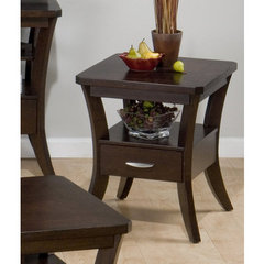 Buy Jofran Joes Espresso 22x20 End Table on sale online