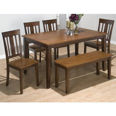 Buy Jofran Kura Canyon 6 Piece 42x30 Dining Room Set w/ Bench on sale online
