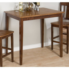 Buy Jofran Kura Canyon Solid Rubberwood Fixed Top Rectangle 42x30 Counter Height Table on sale online