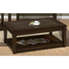 Buy Jofran Lexington Brown 50x32 Rectangular Cocktail Table w/ Casters on sale online
