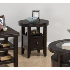 Buy Jofran Marlon Wenge Round 22x22 End Table on sale online