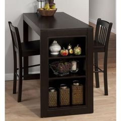 Buy Jofran Maryland Merlot 3 Piece 48x22 Rectangular Counter Height Set in Merlot, Dark Wood on sale online