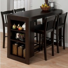 Buy Jofran Maryland Merlot 5 Piece 48x22 Rectangular Counter Height Set in Merlot, Dark Wood on sale online