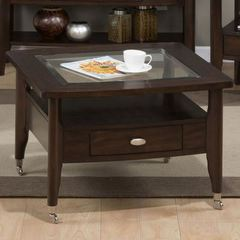 Buy Jofran Montego Merlot 30 Inch Square Castered Cocktail Table on sale online