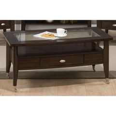 Buy Jofran Montego Merlot 44x24 Rectangular Castered Cocktail Table on sale online