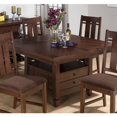Buy Jofran Muir Oak Storage Base Square 48x48 Counter Height Table on sale online