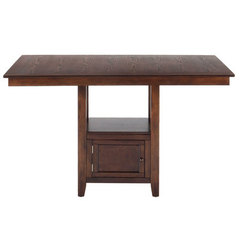 Buy Jofran Olsen Oak 60x48 Rectangular Counter Height Table w/ Fixed Top and Storage Base on sale online