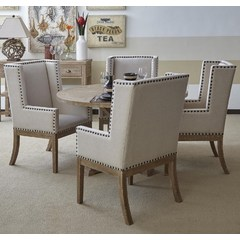 Buy Jofran Pacific Heights 5 Piece 52x52 Dining Set in Bisque on sale online