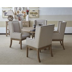 Buy Jofran Pacific Heights 6 Piece 52x52 Dining Set in Bisque on sale online