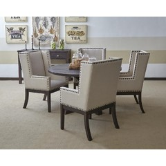 Buy Jofran Pacific Heights 6 Piece 52x52 Round Dining Room Set on sale online