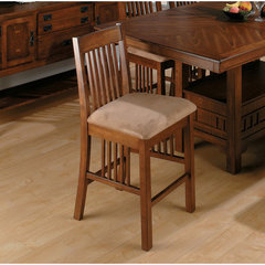 Buy Jofran Saddle Mission Counter Height Stool in Brown Oak on sale online