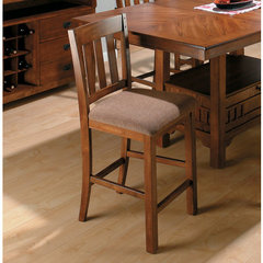 Buy Jofran Saddle School House Counter Height Stool in Brown Oak on sale online