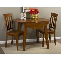 Buy Jofran Simplicity Caramel 3 Piece 42 Inch Dining Room Set on sale online