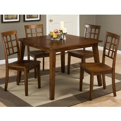 Buy Jofran Simplicity Caramel 5 Piece 42x42 Square Dining Set on sale online