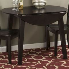 Buy Jofran Simplicity Espresso Round 42x42 Dining Table w/ Drop Leaf on sale online