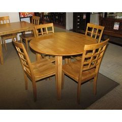 Buy Jofran Simplicity Honey 5 Piece 42x42 Round Dining Room Set on sale online