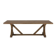Buy Jofran Slater Mill 96x42 Reclaimed Pine Trestle Dining Table on sale online