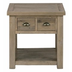 Buy Jofran Slater Mill Pine 24x24 Square End Table w/ 2 Drawers on sale online