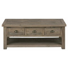 Buy Jofran Slater Mill Pine 48x26 Rectangular Castered Cocktail Table on sale online