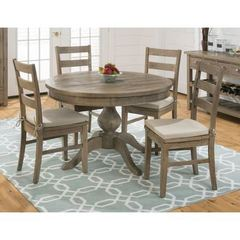 Buy Jofran Slater Mill Pine 5 Piece 66x48 Dining Room Set w/ 4 Side Chairs on sale online