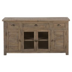 Buy Jofran Slater Mill Pine 60x19 Media Unit w/ 3 Drawers and 3 Doors on sale online