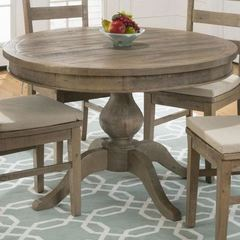 Buy Jofran Slater Mill Pine 66x48 Round To Oval Dining Table on sale online