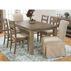 Buy Jofran Slater Mill Pine 7 Piece 72x42 Dining Room Set w/ 2 Parson Chairs on sale online