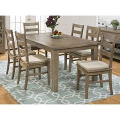 Buy Jofran Slater Mill Pine 7 Piece 72x42 Rectangular Dining Room Set on sale online