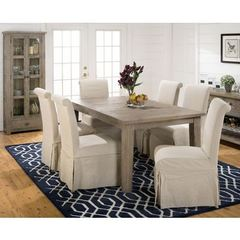 Buy Jofran Slater Mill Pine 8 Piece 72x42 Dining Room Set w/ Credenza on sale online