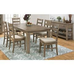 Buy Jofran Slater Mill Pine 8 Piece 72x42 Dining Room Set w/ Server on sale online