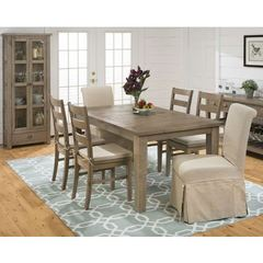 Buy Jofran Slater Mill Pine 8 Piece 72x42 Rectangular Dining Room Set w/ Credenza on sale online