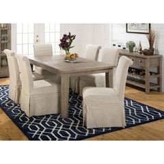 Buy Jofran Slater Mill Pine 8 Piece 72x42 Rectangular Dining Room Set w/ Parson Chairs on sale online