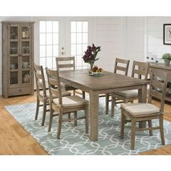 Buy Jofran Slater Mill Pine 8 Piece 72x42 Rectangular Dining Room Set on sale online