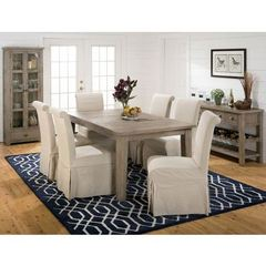 Buy Jofran Slater Mill Pine 9 Piece 72x42 Dining Room Set w/ Server and Credenza on sale online