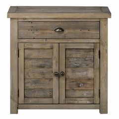 Buy Jofran Slater Mill Pine Accent Chest w/ 2 Doors and 1 Drawer on sale online