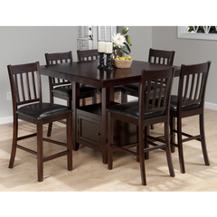 Buy Jofran Tessa Chianti 7 Piece Square 48x48 Counter Height Set on sale online