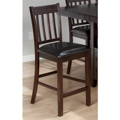 Buy Jofran Tessa Chianti Counter Height Stool w/ Faux Leather Seat and Slat Back on sale online