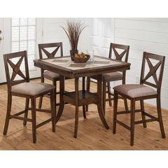 Buy Jofran Tucson Brown 5 Piece Square 40x40 Counter Height Set on sale online