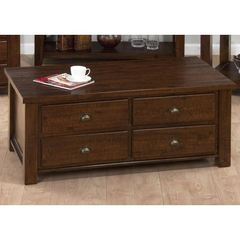 Buy Jofran Urban Lodge Brown 48x26 Rectangular Box Cocktail Table w/ 8 Drawers in Brown on sale online