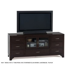Buy Jofran Vienna Espresso 70x19 Media Unit w/ 7 Drawers on sale online