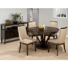 Buy Jofran Webber Walnut 5 Piece 53x53 Round Dining Room Set on sale online
