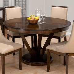 Buy Jofran Webber Walnut 53 Inch Round Dining Table on sale online