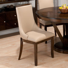 Buy Jofran Webber Walnut Madison Side Chair In Stone Faux Leather on sale online