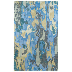Buy Kaleen Brushstrokes Rectangle Area Rug in Blue - BRS05-17 on sale online