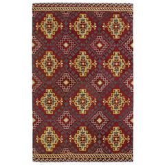 Buy Kaleen Global Inspirations Rectangle Area Rug in Red - GLB07-25 on sale online