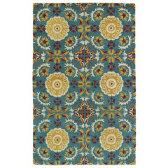 Buy Kaleen Global Inspirations Rectangle Area Rug in Turquoise - GLB06-78 on sale online