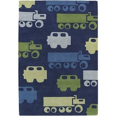 Buy Chandra Rugs Kids Hand-Tufted Contemporary Blue Rug - KID7624 on sale online