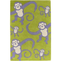 Buy Chandra Rugs Kids Hand-Tufted Contemporary Green Rug - KID7621 on sale online